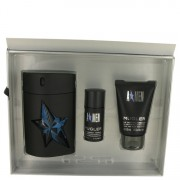 ANGEL by Thierry Mugler Gift Set -- 3.4 oz Eau De Toilette Spray Refillable ( Rubber Bottle) + 1.7 oz Hair & Body Shampoo + .7 oz Deodorant Stick (Alcohol Free) for Men