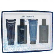 COOL WATER by Davidoff Gift Set -- 2.5 oz Eau De Toilette Spray + 2.5 oz After Shave Balm + 2.5 oz Shower Gel + 2.5 oz After Shave Splash for Men